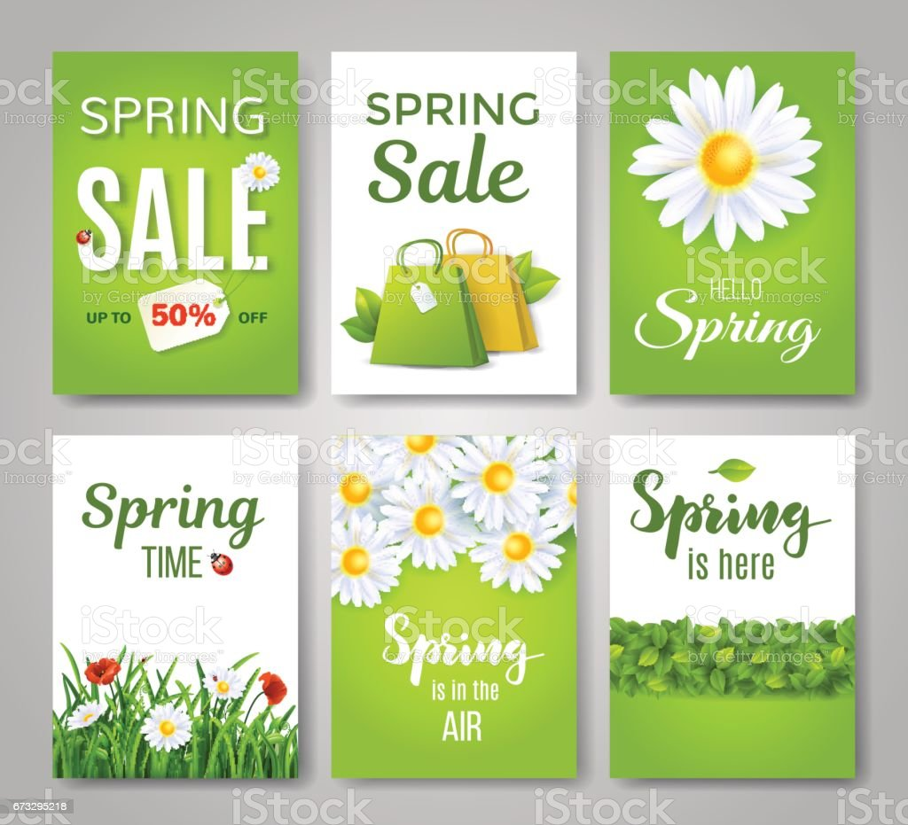 Spring card set. royalty-free spring card set stock vector art & more images of badge