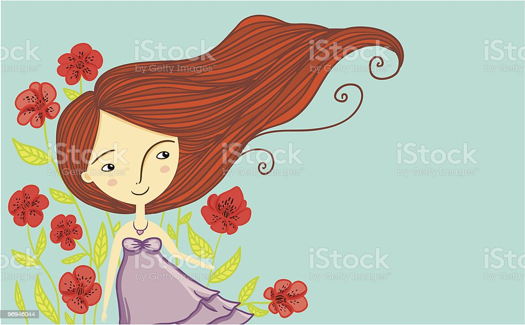 Spring cheerful girl royalty-free spring cheerful girl stock vector art & more images of beauty
