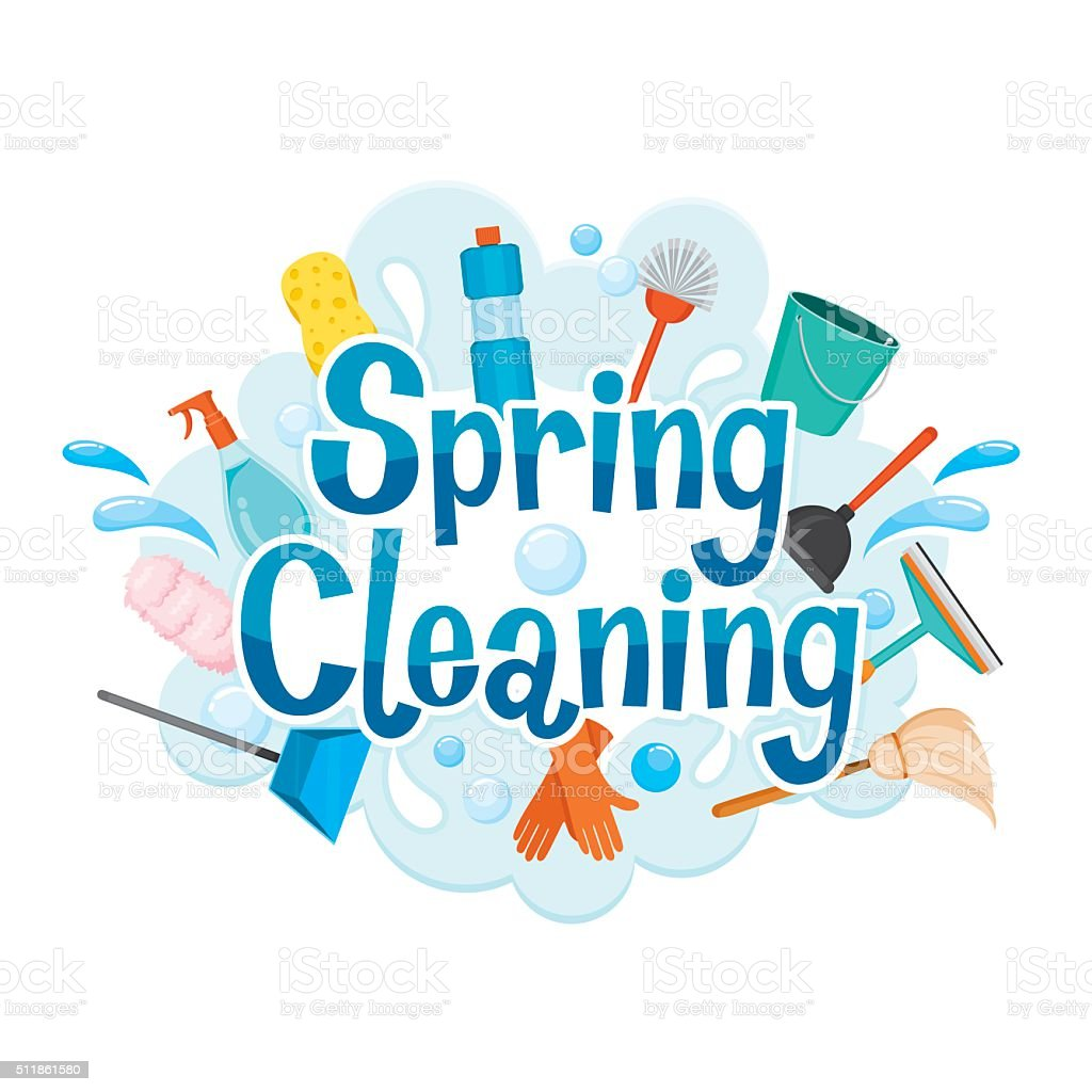 spring cleaning letter decorating and cleaning equipment stock rh istockphoto com