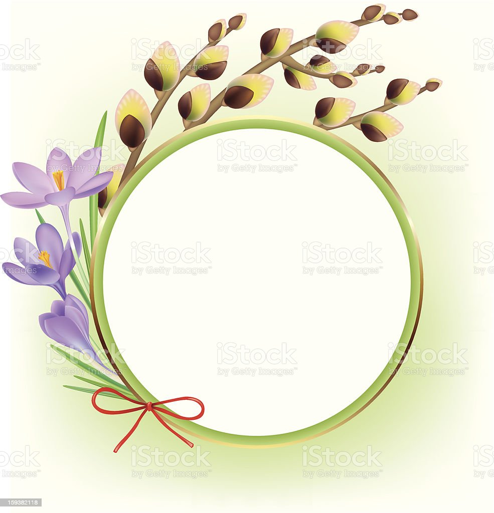 Spring composition royalty-free stock vector art