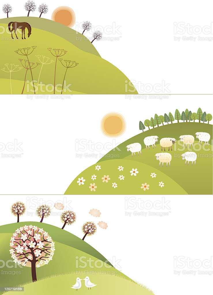 Spring corners royalty-free spring corners stock vector art & more images of agriculture