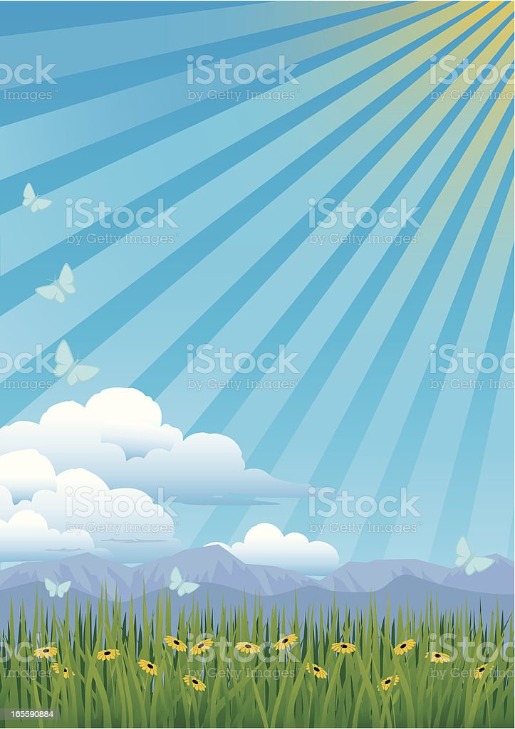 Spring Countryside royalty-free stock vector art