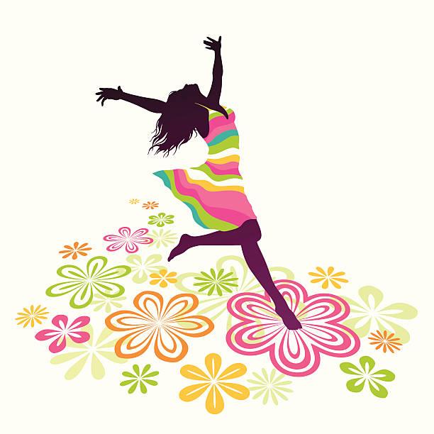 frühling-dance - freilauf stock-grafiken, -clipart, -cartoons und -symbole