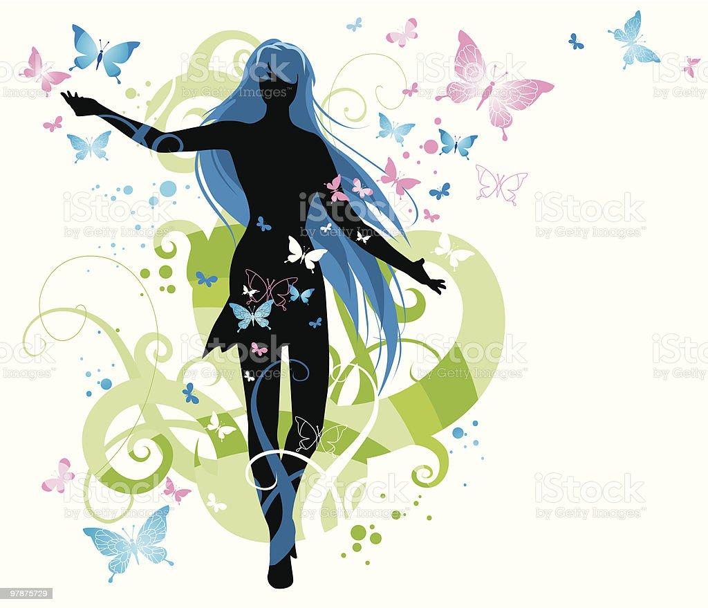Spring dance royalty-free stock vector art