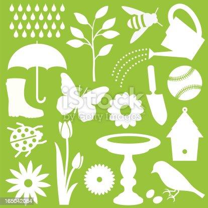 Set of spring vector illustrations.