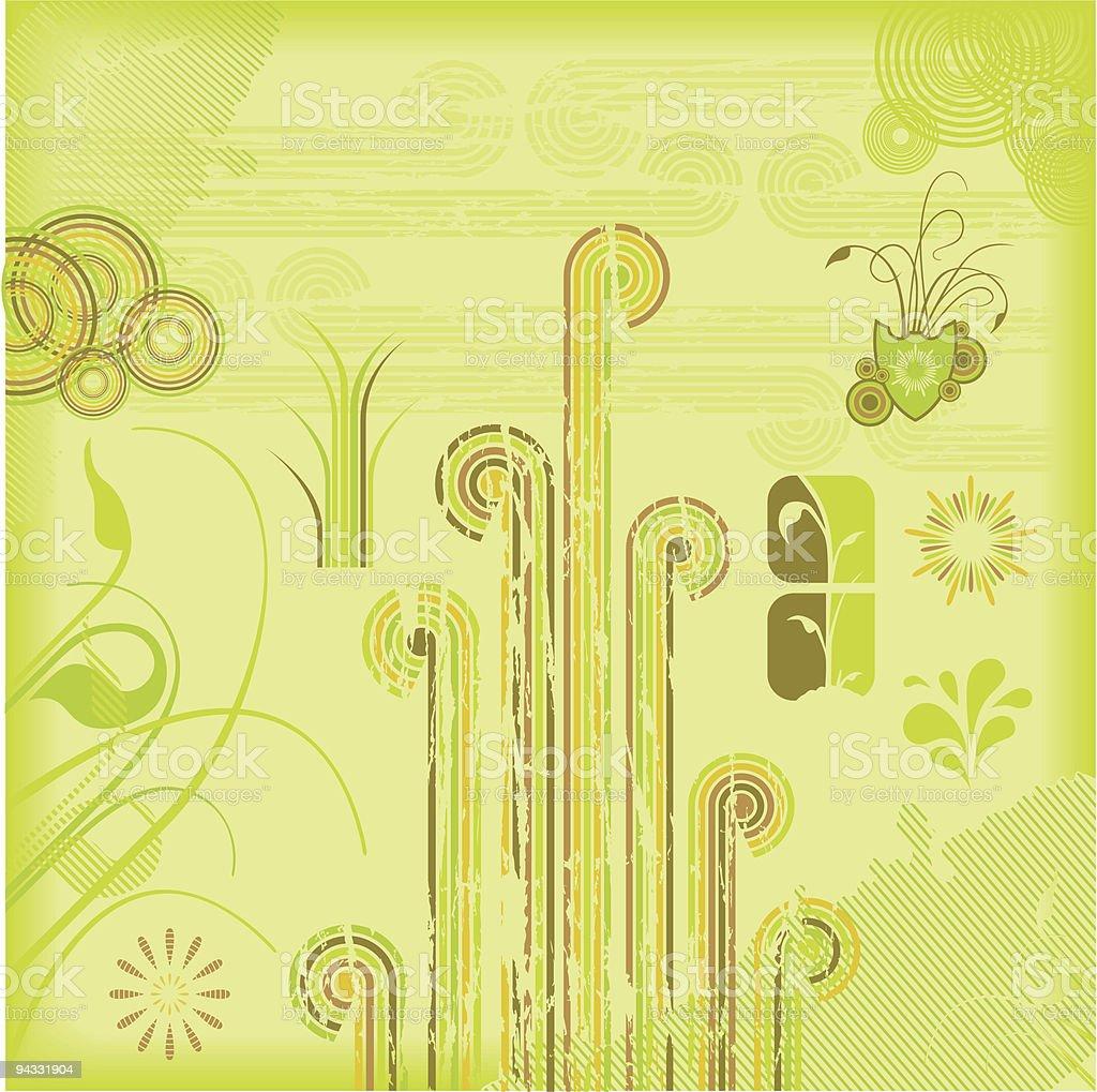 Spring Design Elements royalty-free stock vector art