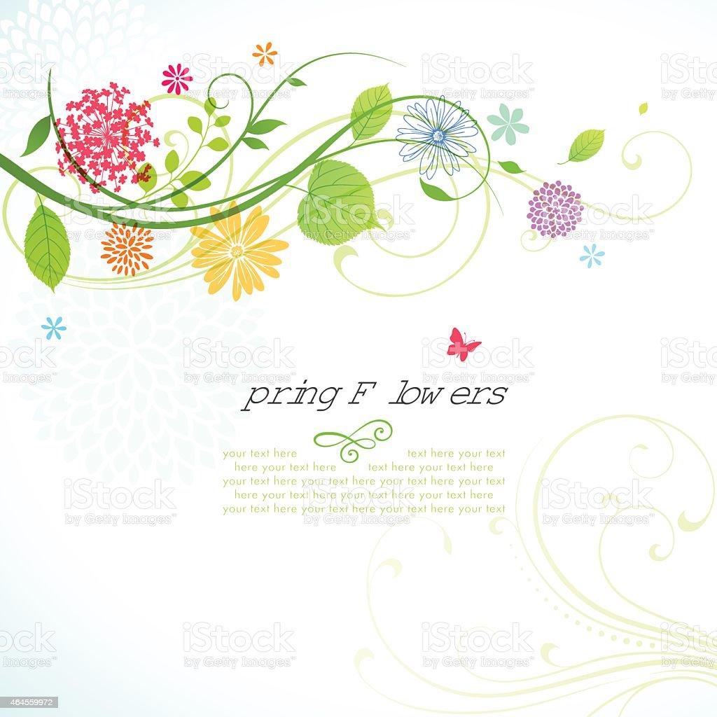 Frühling-Design mit Copyspace – Vektorgrafik