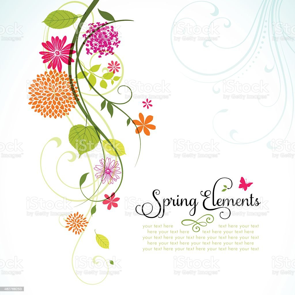 Spring Design with Copyspace vector art illustration