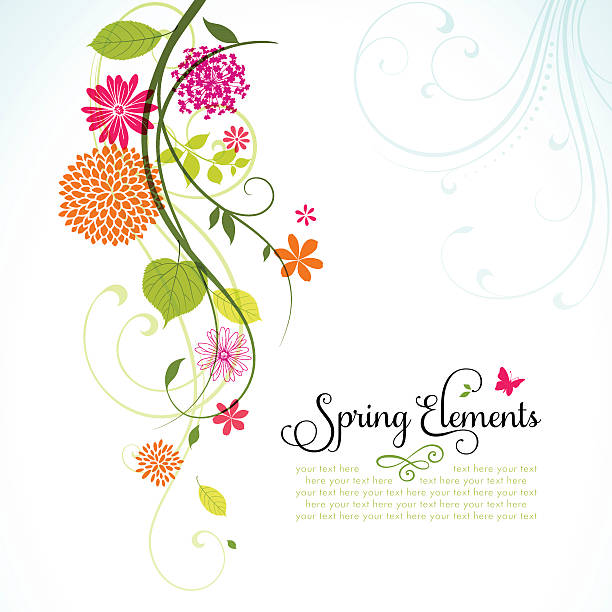 spring design with copyspace - vine stock illustrations, clip art, cartoons, & icons