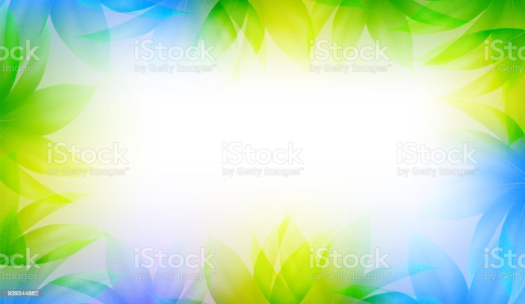 Spring Easter Shiny Sky Background Vector With Colorful Leaves. Good For Template Design Banners vector art illustration