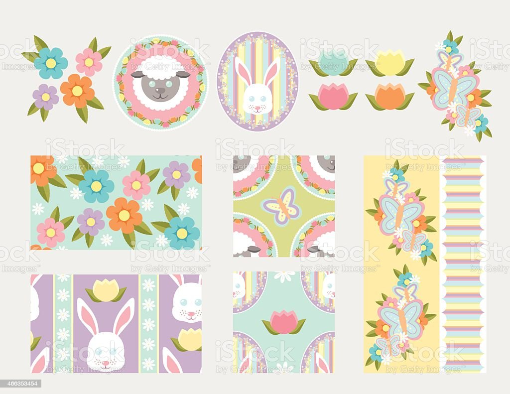 Spring Elements and Patterns royalty-free spring elements and patterns stock vector art & more images of 2015