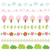 Spring elements border set