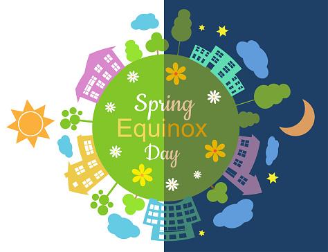 Spring equinox half day half night