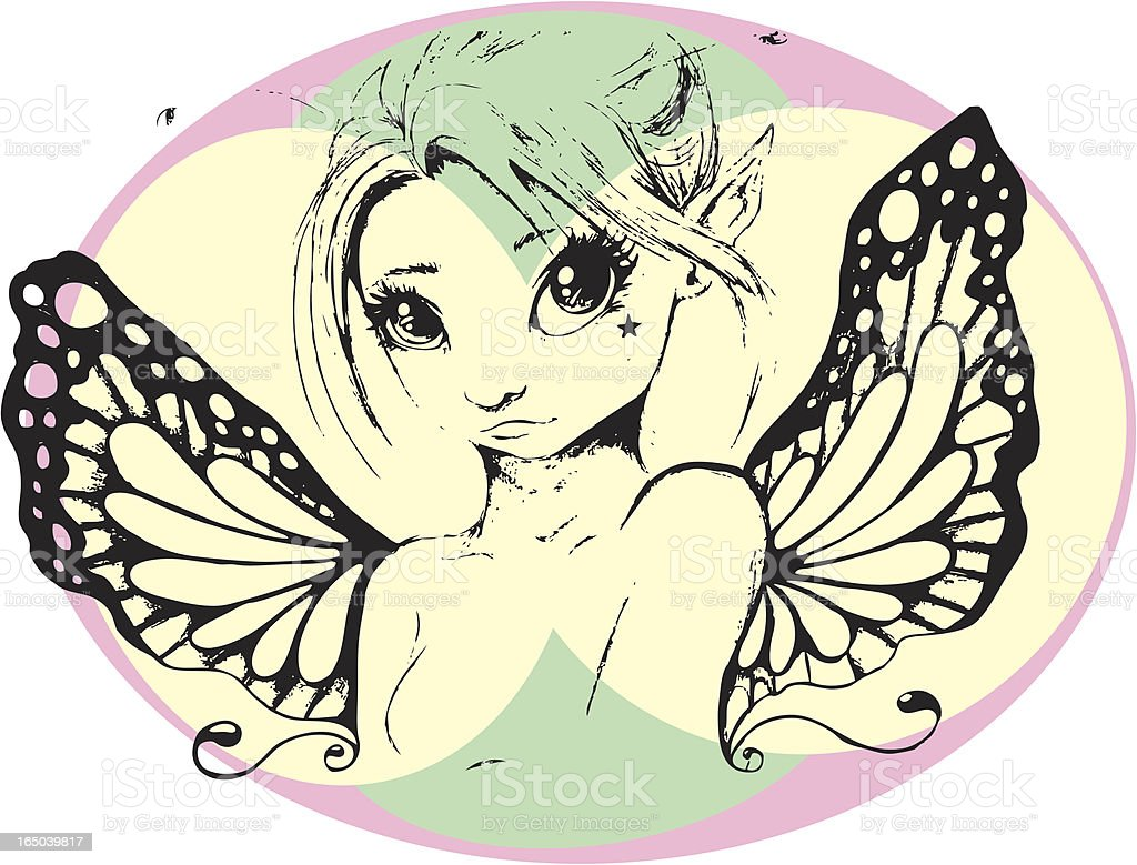 Spring Fairy royalty-free stock vector art
