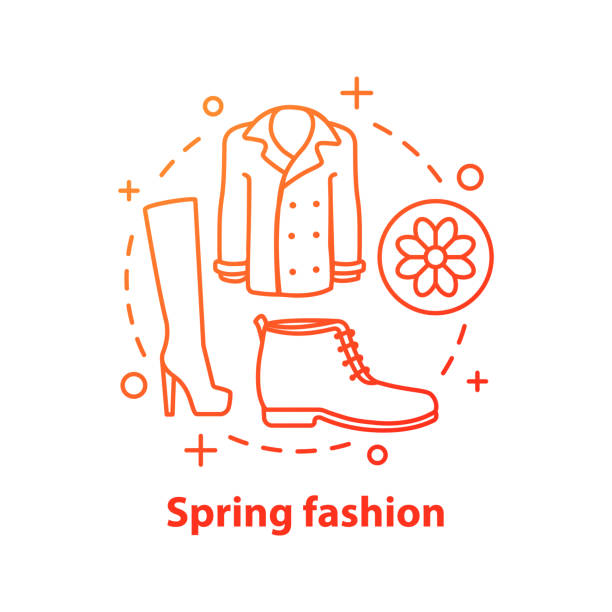 spring fashion icon - spring fashion stock illustrations, clip art, cartoons, & icons
