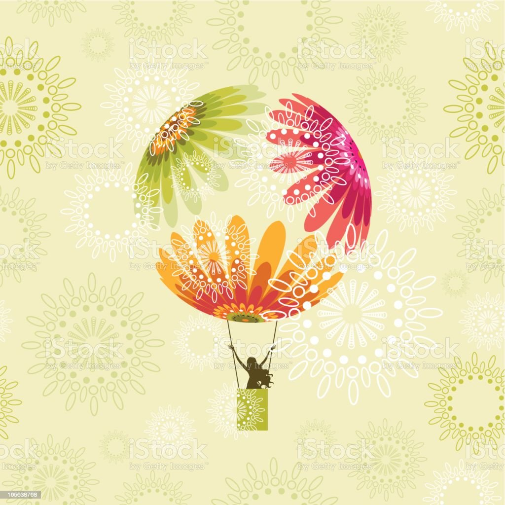 Spring flight vector art illustration