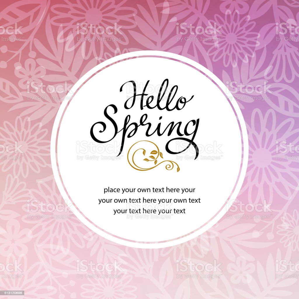 Spring Floral Background Invitation vector art illustration