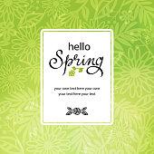 Spring floral background invitation.