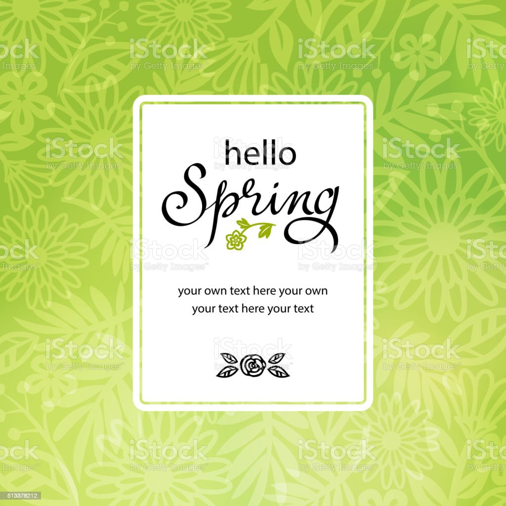 Spring Floral Background Invitation vector art illustration