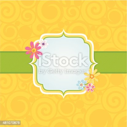 Spring Floral Badge Background