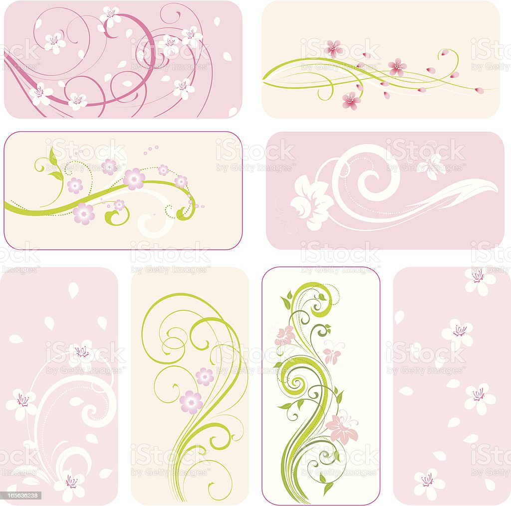 Spring floral decorative   ornament royalty-free stock vector art