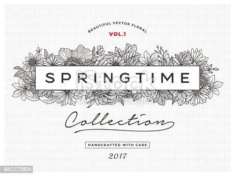 istock Spring Floral Frame 642272804