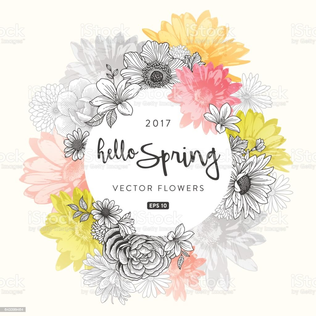 Spring Floral Frame royalty-free spring floral frame stock vector art & more images of blossom