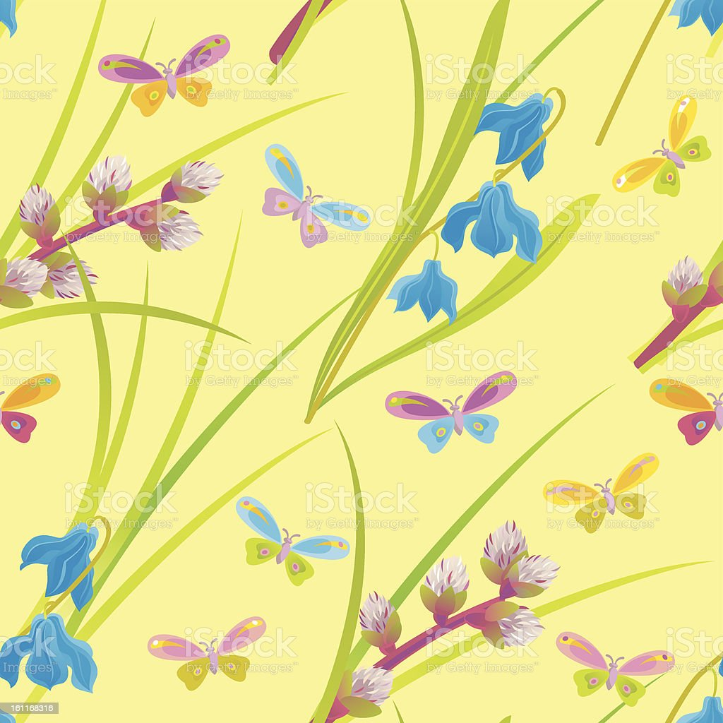 Spring Floral Pattern royalty-free spring floral pattern stock vector art & more images of animal