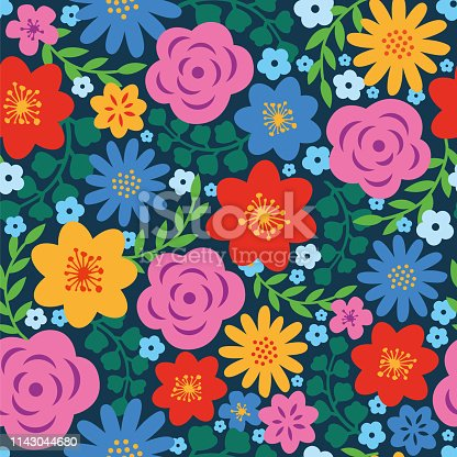 Spring Floral seamless pattern. - Illustration