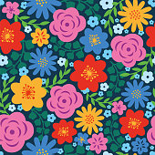 Spring Floral seamless pattern.