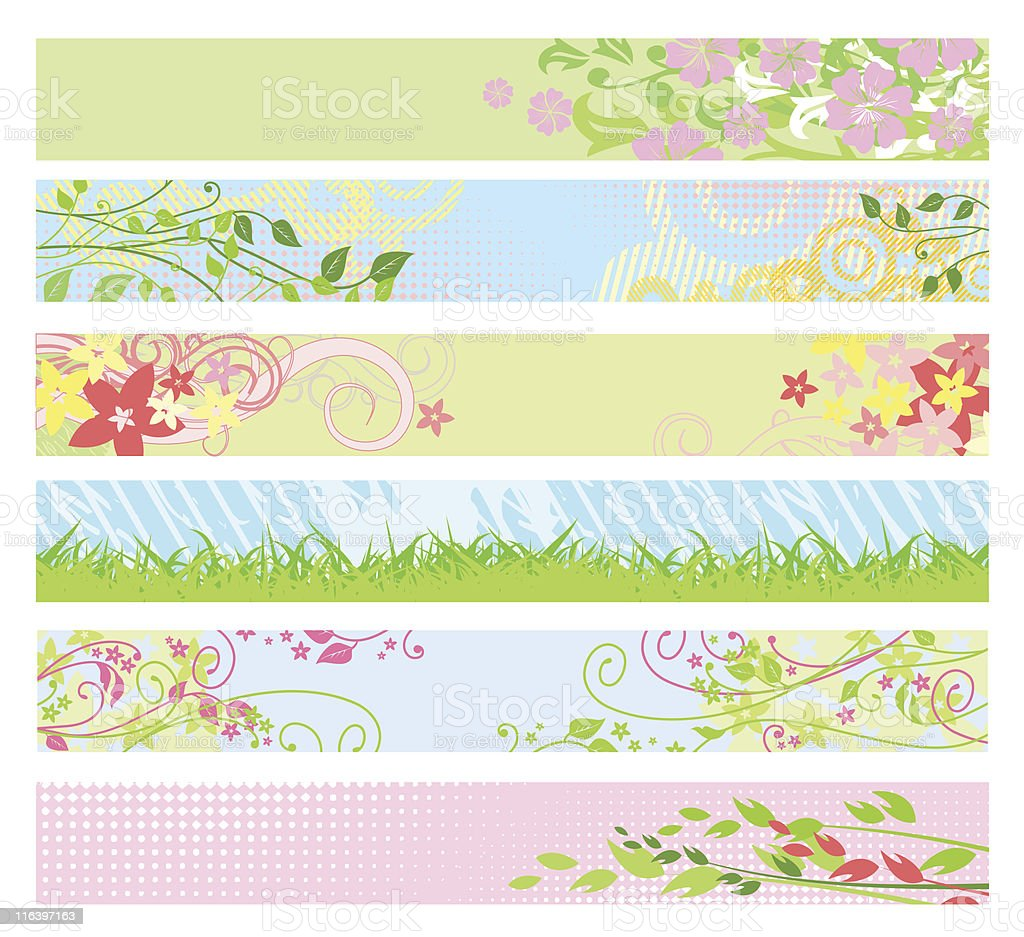 Spring floral website banners / vector / for your web-site royalty-free stock vector art