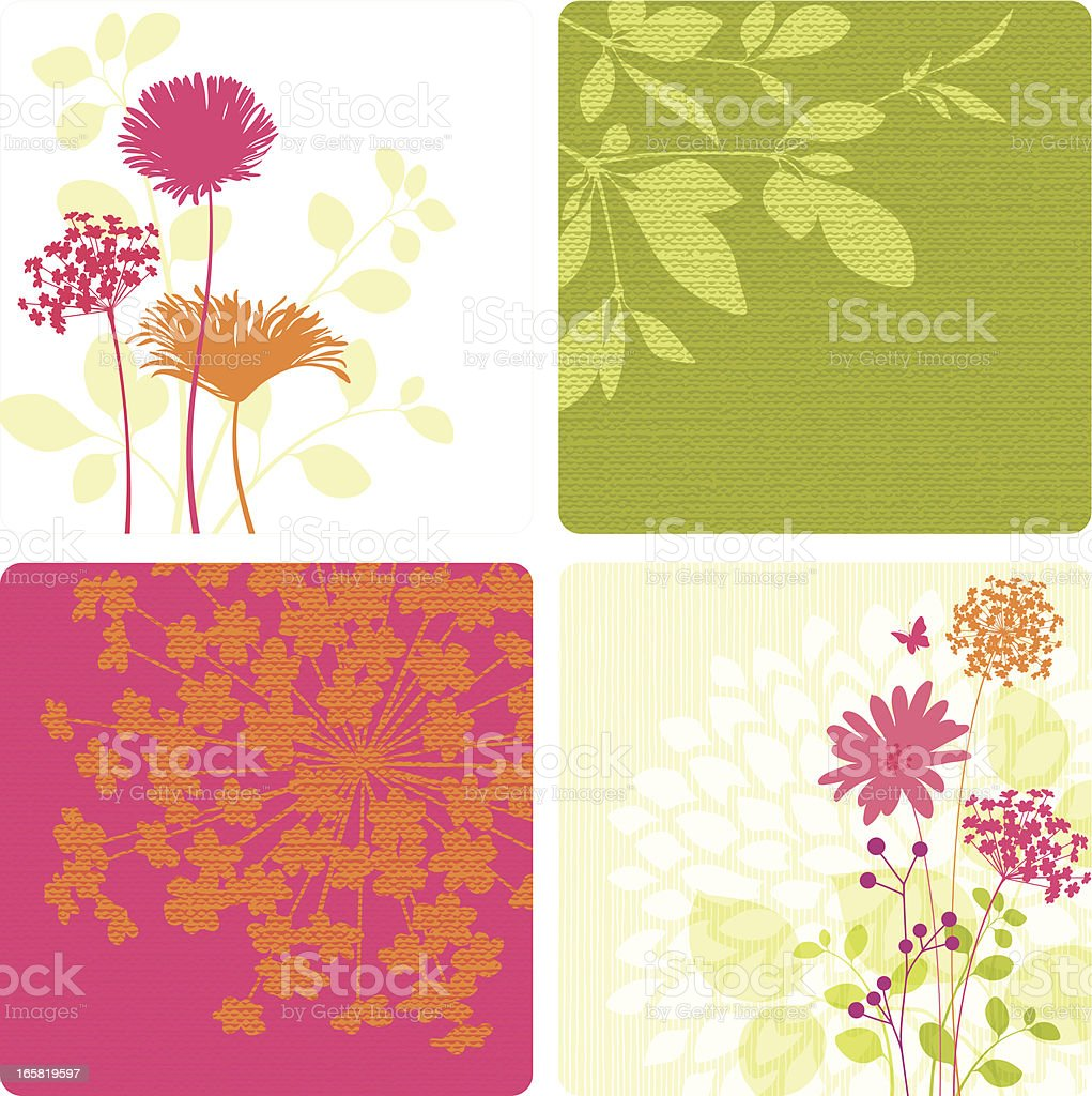 Spring Flower And Leaf Designs Stock Vector Art More Images Of