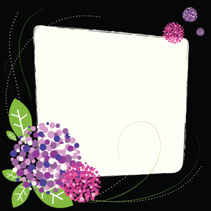 spring flower blooming colorful frame