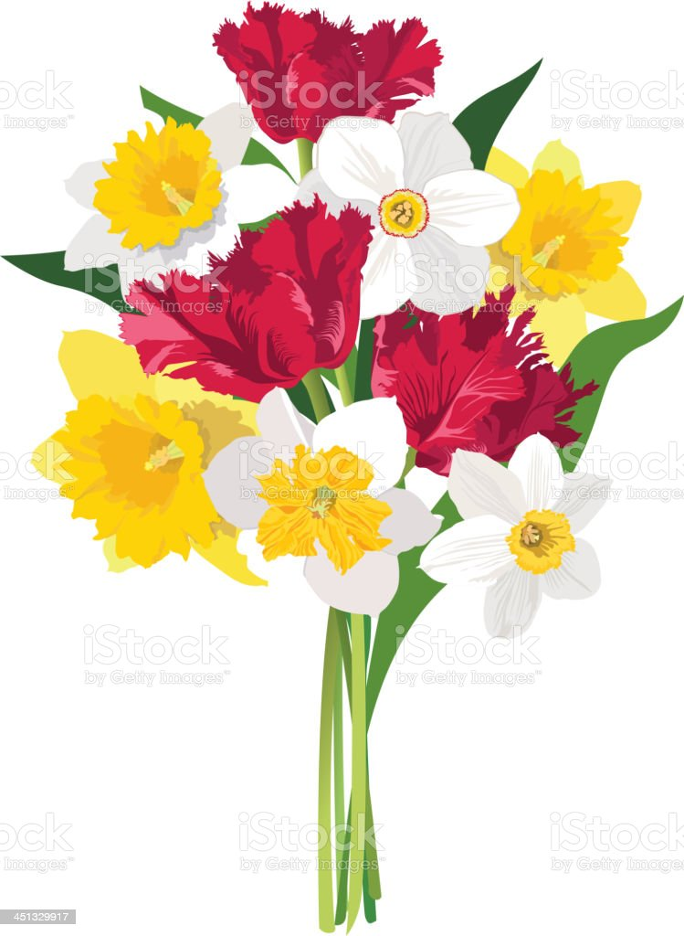 Spring Flower Bouquet For Others Stock Vector Art & More Images of ...