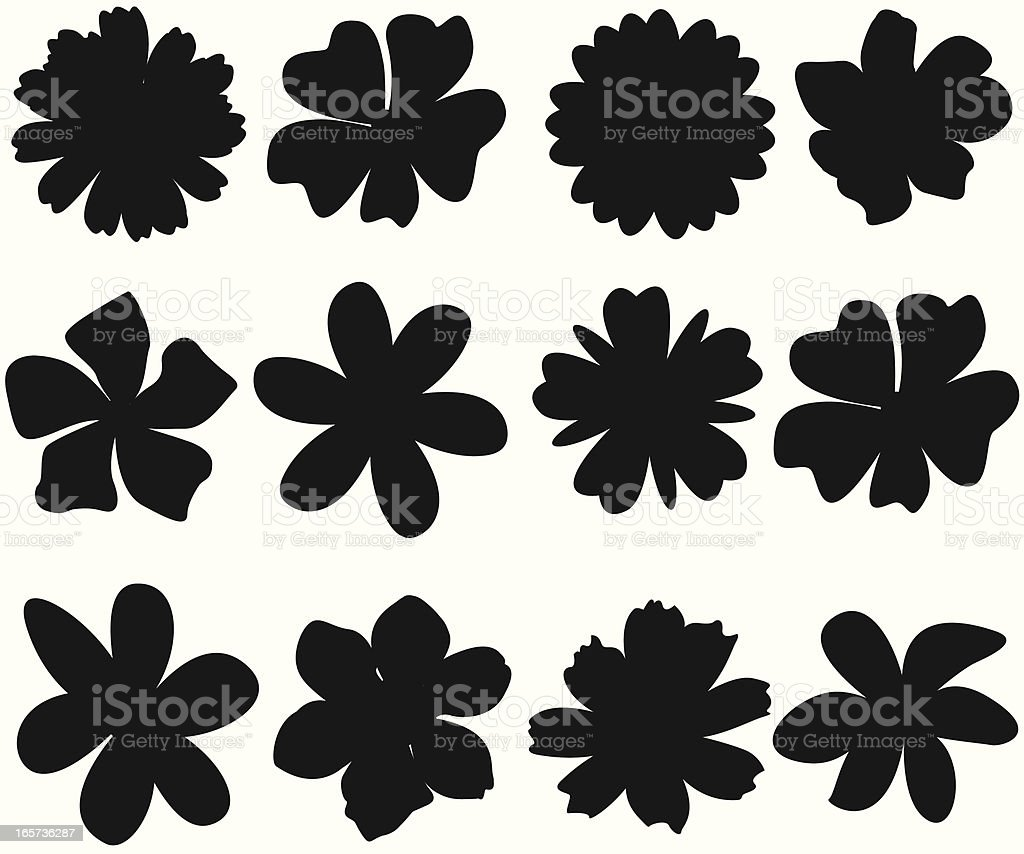 Frühling-Blumen-Silhouette – Vektorgrafik