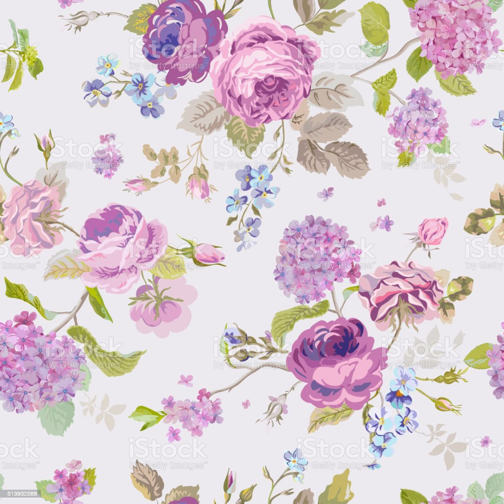 spring flowers background seamless floral shabby chic