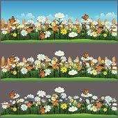 Spring Flowers Banner
