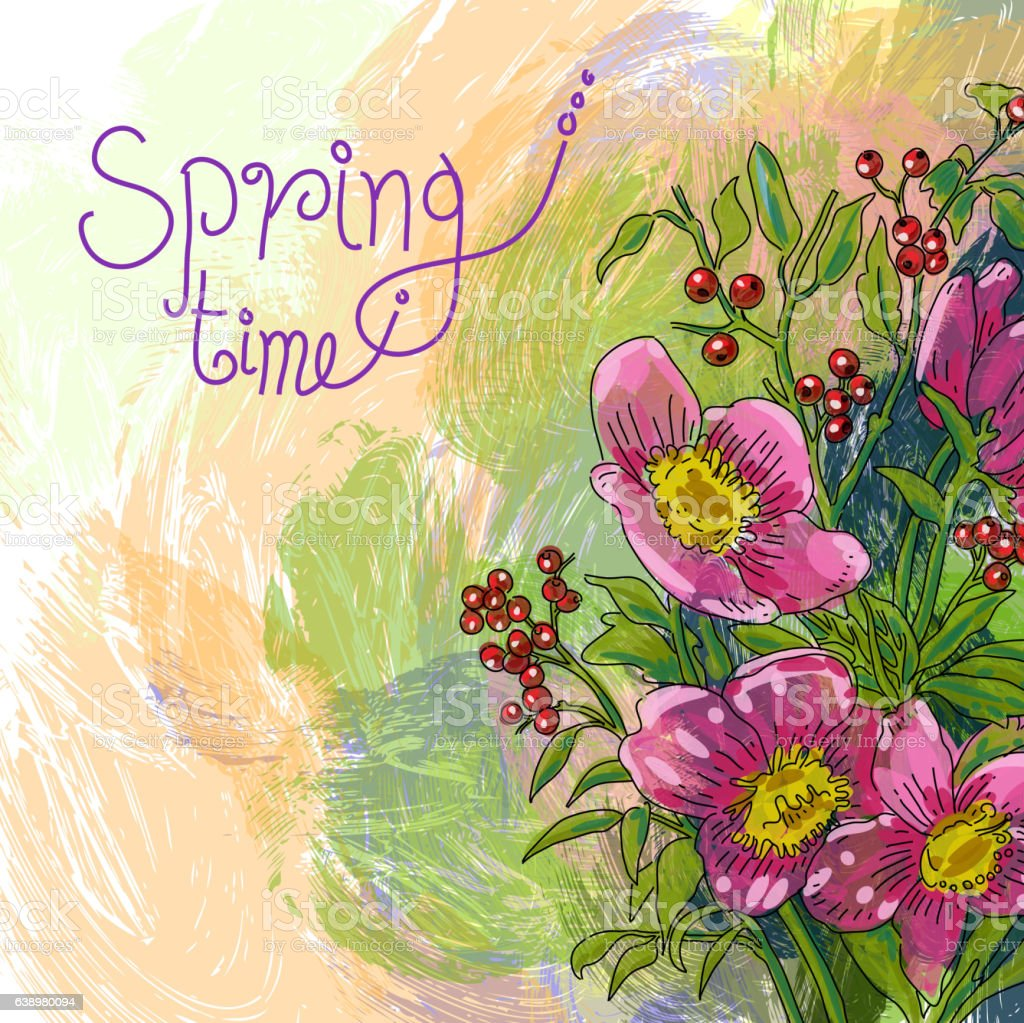 Spring flowers drawing stock vector art more images of backgrounds spring flowers drawing royalty free spring flowers drawing stock vector art amp more images mightylinksfo