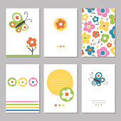 spring flowers greeting cards vector id