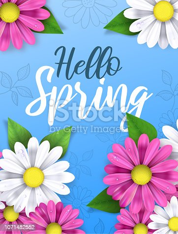 Spring Sale flowers illustration