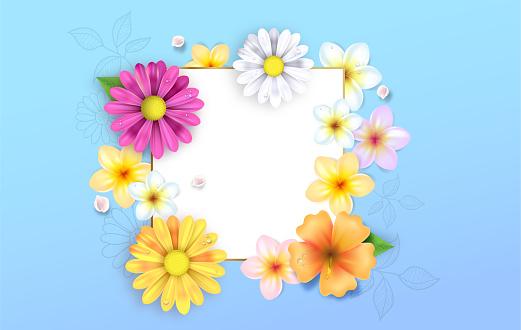 Spring flowers illustration