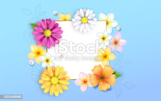 istock Spring flowers illustration 1303469580