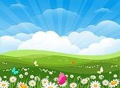 istock Spring flowers meadow landscape 1293499665
