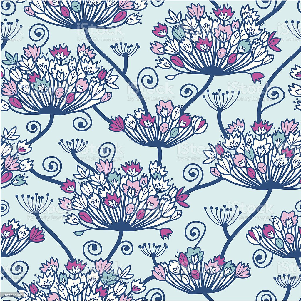 Spring Flowers Seamless Pattern Background vector art illustration