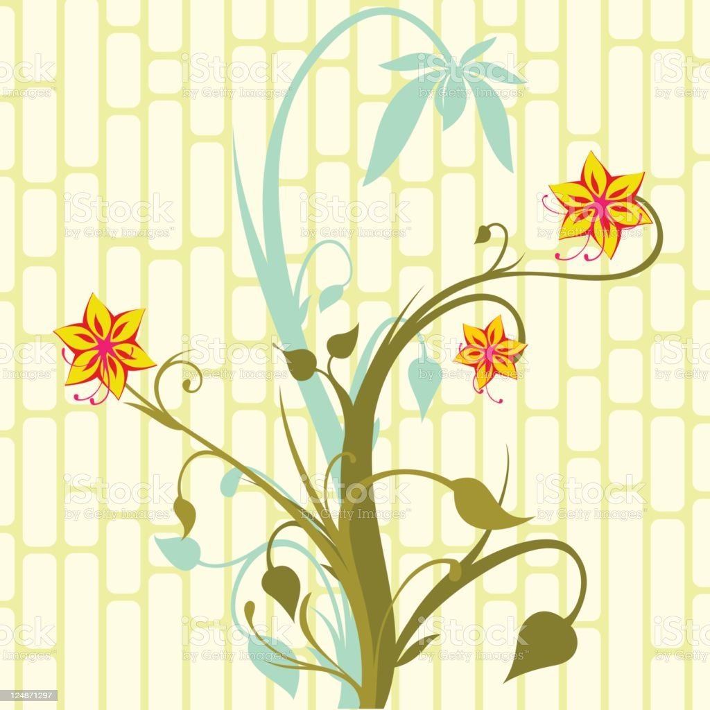 Spring Flowers Vector Floral Ornament Background royalty-free stock vector art