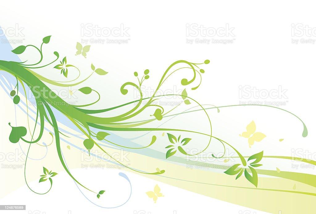 Ilustracin de Flores De Primavera Con Flores Adorno Vector Fondo