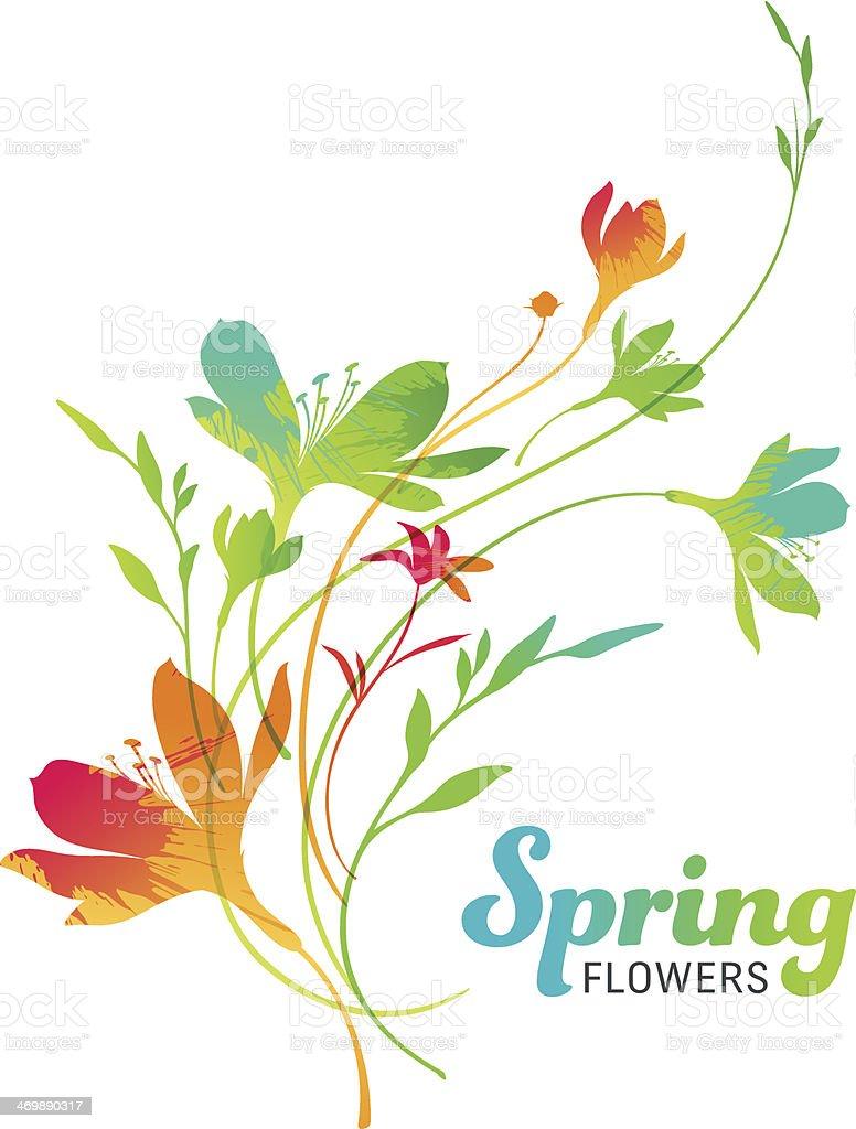 Spring Flowers vector art illustration