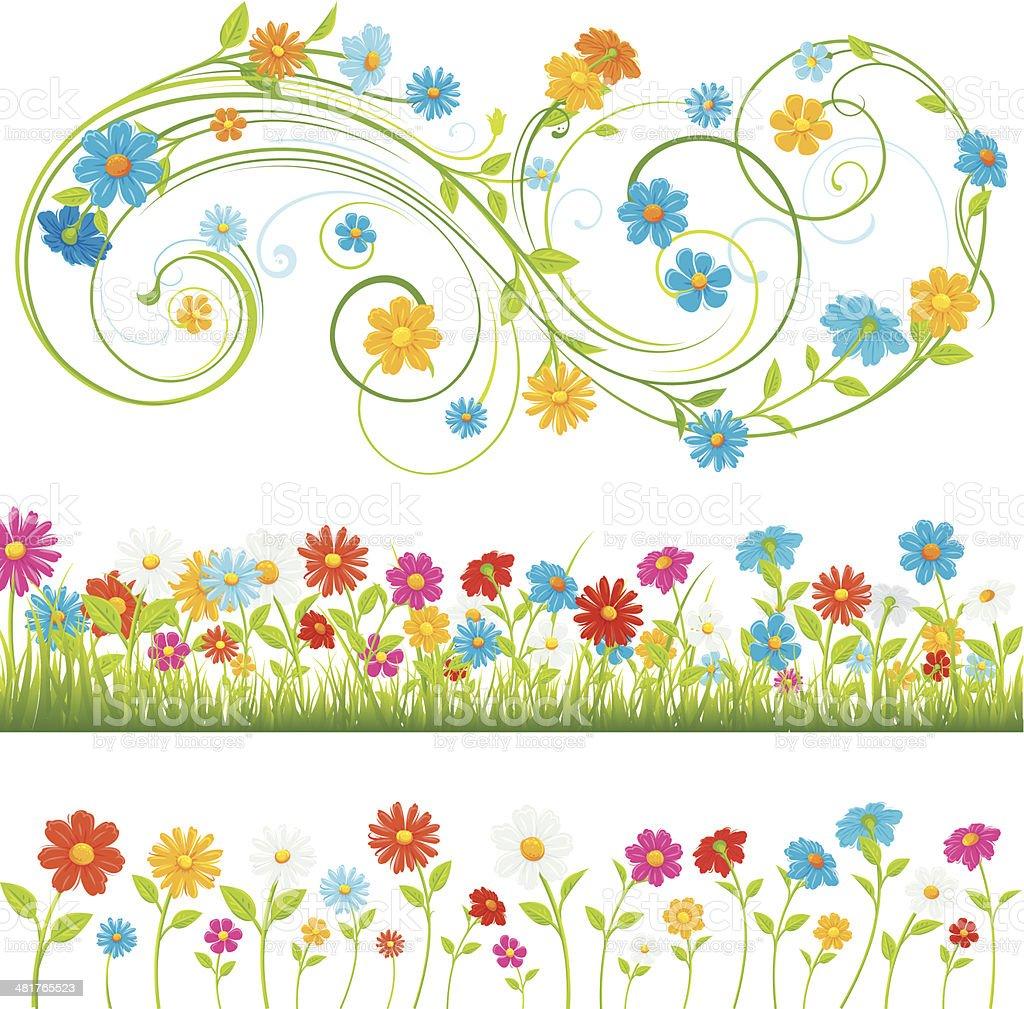 Spring flowersvectorkunst illustratie