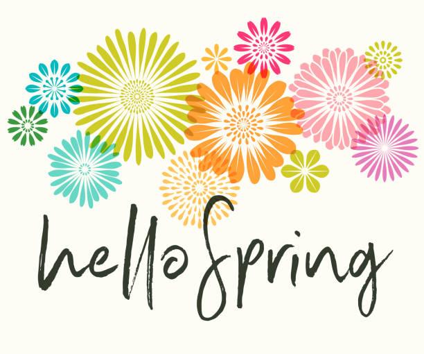 ilustraciones, imágenes clip art, dibujos animados e iconos de stock de flores de primavera - primavera