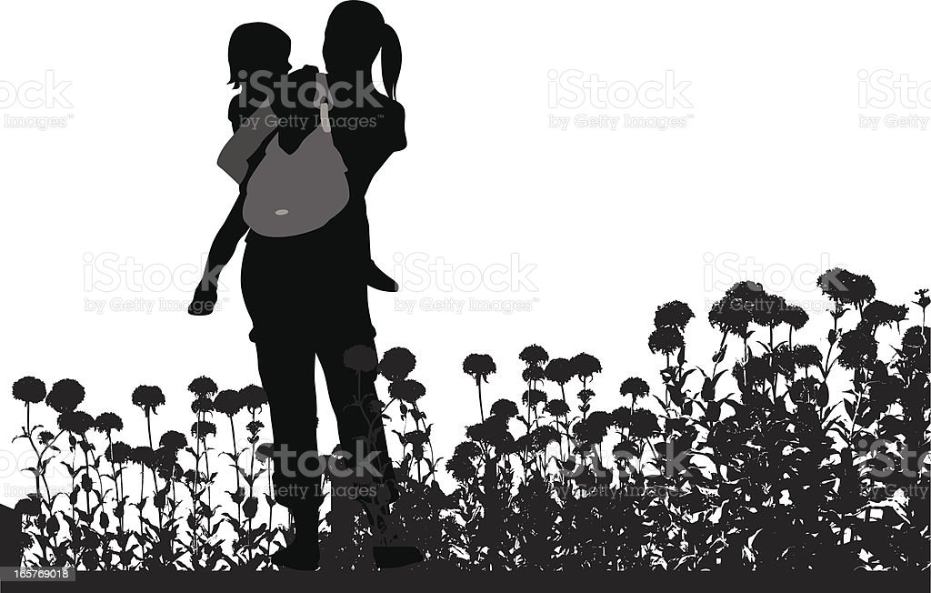 Spring Flowers Vector Silhouette royalty-free stock vector art